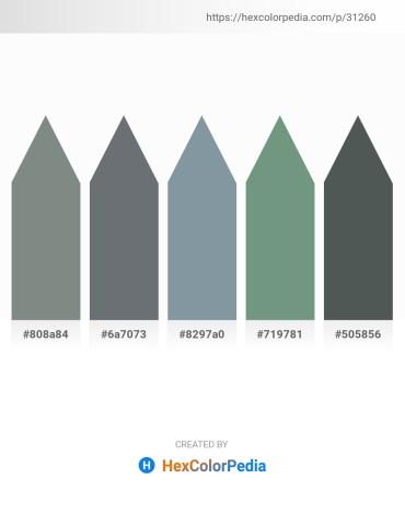 Palette image download - Slate Gray – Slate Gray – Light Slate Gray – Cadet Blue – Dark Slate Gray