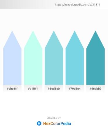 Palette image download - Alice Blue – Light Cyan – Light Blue – Sky Blue – Steel Blue