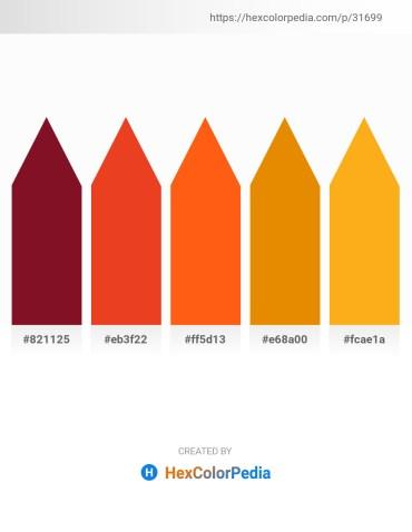 Palette image download - Purple – Crimson – Orange Red – Dark Orange – Orange