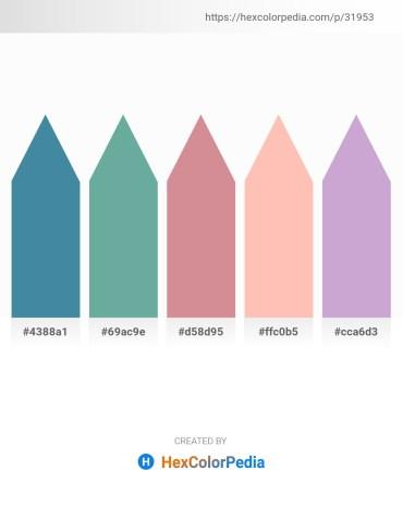 Palette image download - Steel Blue – Cadet Blue – Teal – Light Pink – Dark Sea Green