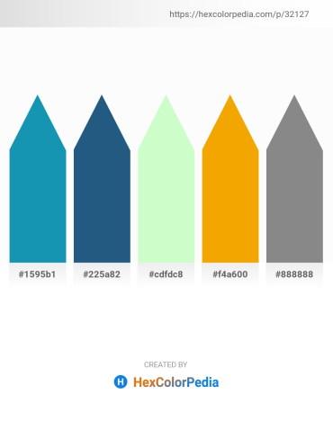 Palette image download - Light Sea Green – Light Sea Green – Honeydew – Orange – Gray
