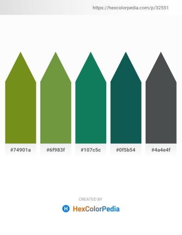 Palette image download - Olive Drab – Dark Olive Green – Teal – Tomato – Dark Slate Gray