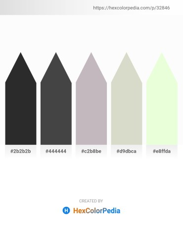Palette image download - Black – Dim Gray – Silver – Light Gray – Honeydew