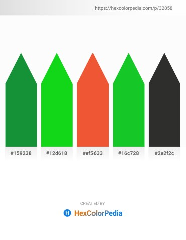 Palette image download - Forest Green – Lime – Tomato – Lime Green – Black