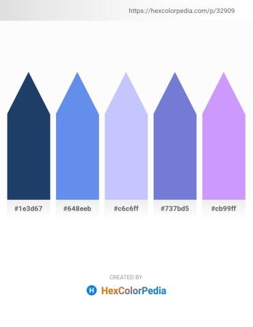 Palette image download - Midnight Blue – Cornflower Blue – Alice Blue – Slate Blue – Steel Blue