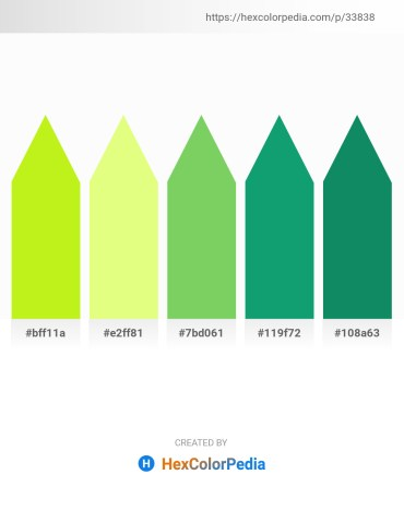 Palette image download - Green Yellow – Light Goldenrod Yellow – Yellow Green – Light Sea Green – Teal