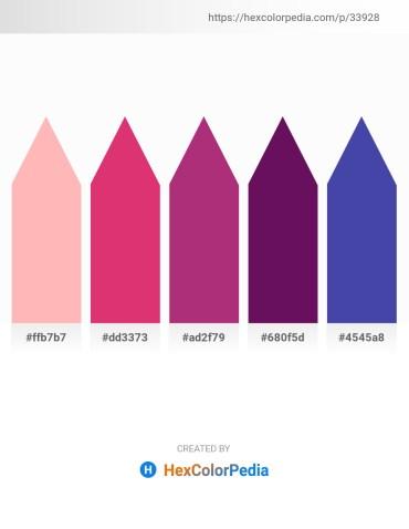 Palette image download - Light Pink – Medium Violet Red – Steel Blue – Purple – Dark Slate Blue