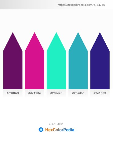 Palette image download - Purple – Medium Violet Red – Turquoise – Light Sea Green – Midnight Blue
