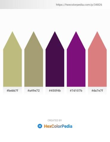 Palette image download - Dark Khaki – Dark Khaki – Midnight Blue – Purple – Pale Violet Red