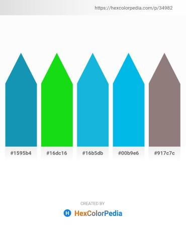 Palette image download - Light Sea Green – Lime – Light Sea Green – Deep Sky Blue – Gray