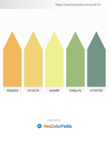Palette image download - Sandy Brown – Khaki – Khaki – Dark Sea Green – Cadet Blue