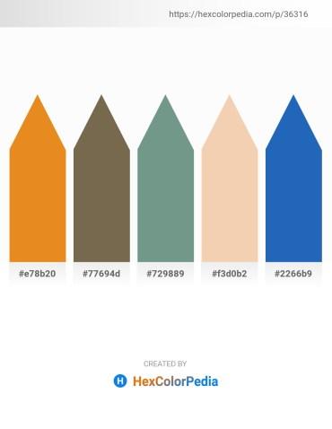 Palette image download - Goldenrod – Dim Gray – Cadet Blue – Wheat – Royal Blue