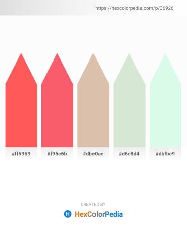 Palette image download - Tomato – Salmon – Tan – Beige – Honeydew