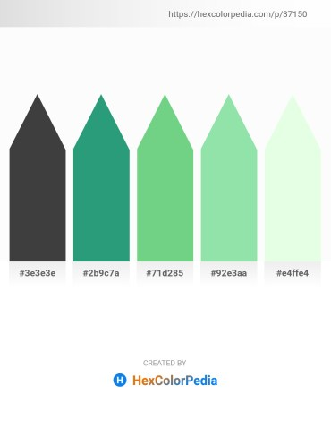 Palette image download - Dim Gray – Sea Green – Medium Aquamarine – Light Green – Honeydew