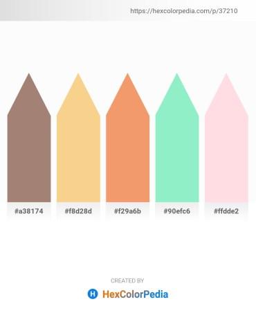 Palette image download - Rosy Brown – Khaki – Sandy Brown – Light Green – Misty Rose