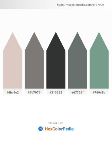 Palette image download - Thistle – Gray – Dark Slate Gray – Slate Gray – Cadet Blue