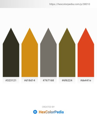 Palette image download - Dark Slate Gray – Dark Goldenrod – Dim Gray – Dark Olive Green – Chocolate
