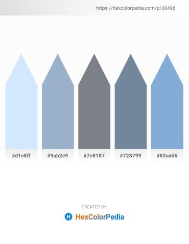 Palette image download - Alice Blue – Light Steel Blue – Slate Gray – Light Slate Gray – Light Steel Blue