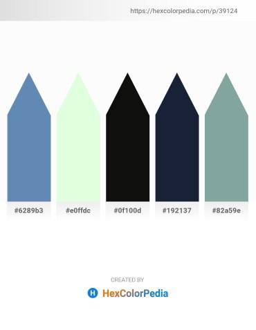 Palette image download - Steel Blue – Honeydew – Black – Dim Gray – Light Slate Gray