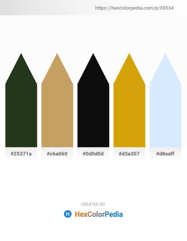Palette image download - Dark Olive Green – Dark Khaki – Black – Dark Goldenrod – Alice Blue