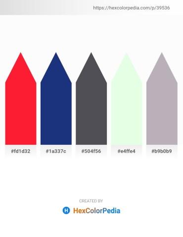 Palette image download - Red – Midnight Blue – Dark Slate Gray – Honeydew – Silver