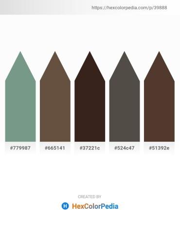 Palette image download - Cadet Blue – Dark Olive Green – Chocolate – Dim Gray – Dark Olive Green
