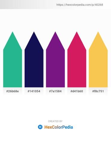Palette image download - Light Sea Green – Midnight Blue – Indigo – Crimson – Sandy Brown