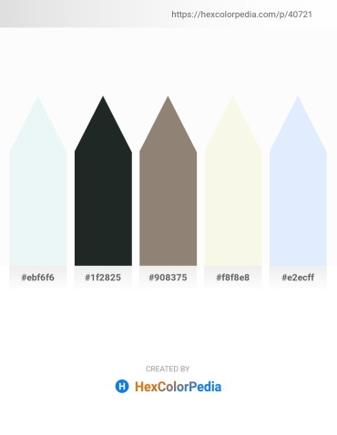 Palette image download - Powder Blue – Dark Slate Gray – Gray – Beige – Alice Blue