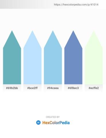Palette image download - Cadet Blue – Light Cyan – Sky Blue – Steel Blue – Honeydew