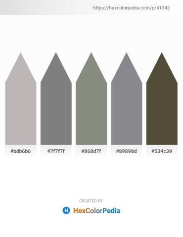 Palette image download - Silver – Gray – Gray – Slate Gray – Dark Olive Green