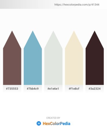 Palette image download - Dim Gray – Wheat – Gainsboro – Beige – Sienna