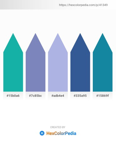 Palette image download - Light Sea Green – Light Slate Gray – Light Steel Blue – Dark Slate Blue – Light Sea Green