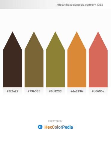 Palette image download - Dark Slate Blue – Dark Olive Green – Olive Drab – Peru – Indian Red