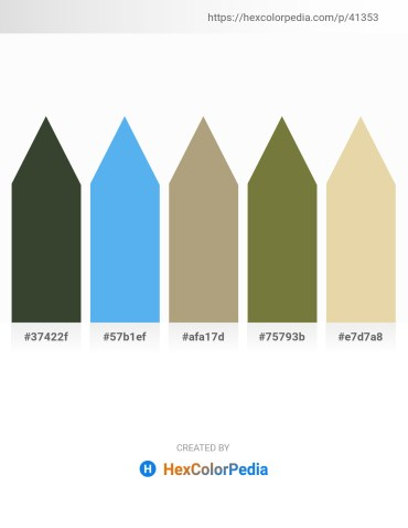 Palette image download - Dark Slate Gray – Cornflower Blue – Light Steel Blue – Dark Olive Green – Pale Goldenrod