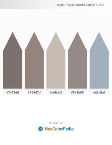 Palette image download - Dim Gray – Gray – Silver – Gray – Light Slate Gray