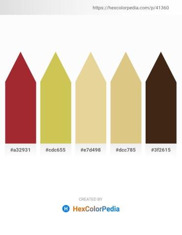 Palette image download - Brown – Dark Khaki – Pale Goldenrod – Burlywood – Chocolate