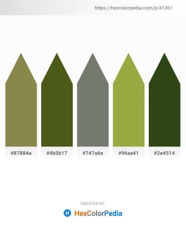 Palette image download - Dark Olive Green – Olive Drab – Dim Gray – Yellow Green – Dark Olive Green