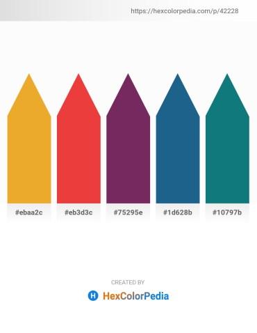 Palette image download - Goldenrod – Crimson – Chocolate – Olive Drab – Teal