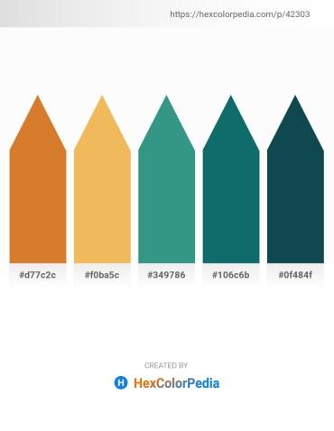 Palette image download - Chocolate – Sandy Brown – Medium Sea Green – Teal – Black