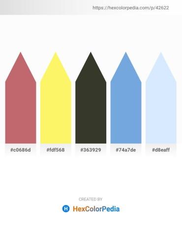 Palette image download - Indian Red – Khaki – Dim Gray – Sky Blue – Alice Blue