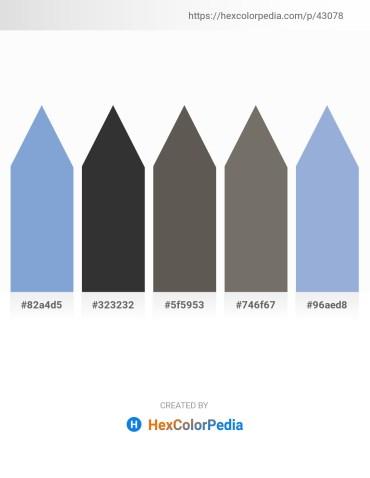 Palette image download - Light Steel Blue – Black – Dim Gray – Dim Gray – Light Steel Blue