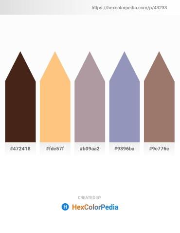 Palette image download - Blue – Light Salmon – Dark Gray – Light Slate Gray – Rosy Brown