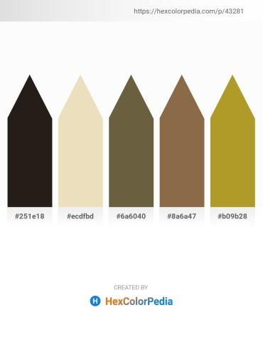 Palette image download - Black – Pale Goldenrod – Dark Olive Green – Dim Gray – Peru