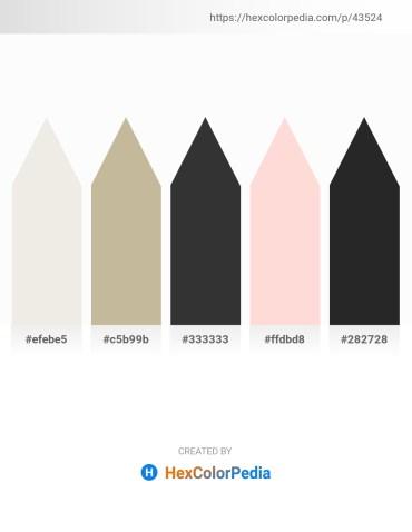 Palette image download - White Smoke – Tan – Black – Misty Rose – Black
