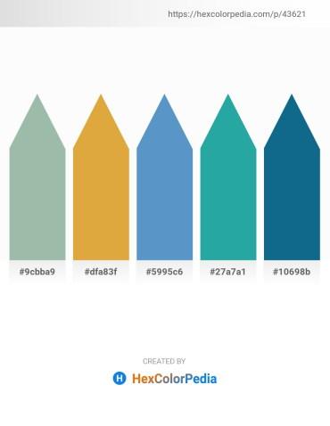 Palette image download - Dark Sea Green – Goldenrod – Steel Blue – Light Sea Green – Teal
