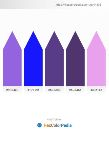 Palette image download - Medium Purple – Blue – Dark Slate Blue – Dark Slate Blue – Pale Goldenrod