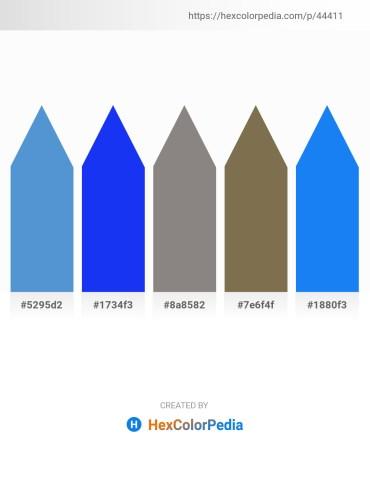 Palette image download - Steel Blue – Blue – Gray – Dark Olive Green – Dodger Blue