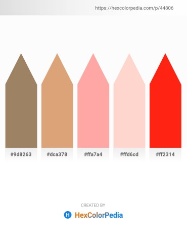 Palette image download - Rosy Brown – Burlywood – Light Pink – Misty Rose – Red