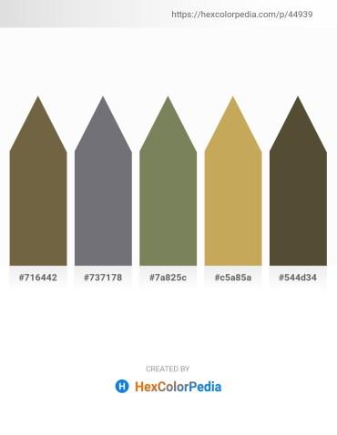 Palette image download - Dark Olive Green – Slate Gray – Dim Gray – Dark Khaki – Dark Olive Green