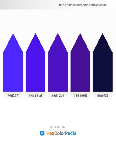 Palette image download - Blue – Blue Violet – Blue Violet – Indigo – Midnight Blue
